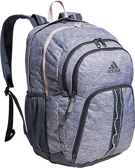 adidas Prime 6 Backpack, Jersey Grey/Onix Grey/Clear Pink, One Size