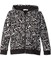 Stella McCartney Kids - Joplin All Over Printed Zip-Up Hoodie (Toddler/Little Kids/Big Kids)
