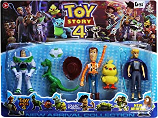 Toy Story 4 Action Figure Set of Woody, Buzz Light year, Little Bo-Peep, Ducky And Rex