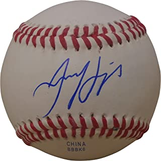 Texas Rangers Jared Hoying Autographed Hand Signed Baseball with Proof Photo of Signing and COA, Hanwha Eagles