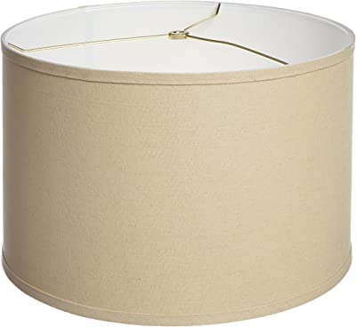 Cal Lighting SH-1348 10-Inch Side Drum Hardback Fabric Shade