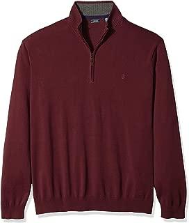Men's Big and Tall Premium Essentials Quarter Zip Solid 12 Gauge Sweater