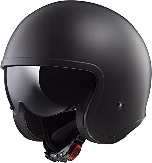 LS2 Helmets Unisex-Adult Solid Spitfire Helmets (Matte Black, Medium)