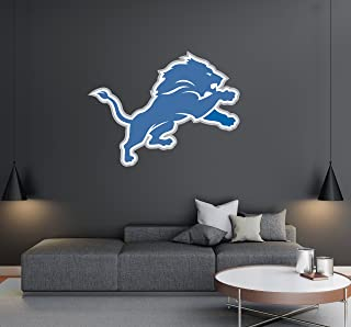 Detroit Lions - Football Team Logo - Wall Decal Removable & Reusable For Home Bedroom (Wide 20