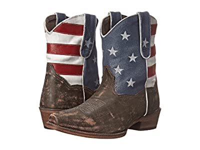 Roper American Flag Shorty (Brown) Cowboy Boots