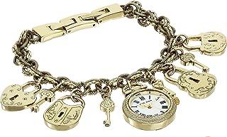 Women's Gold-Tone Charm Bracelet Watch, AK/3460GPCH