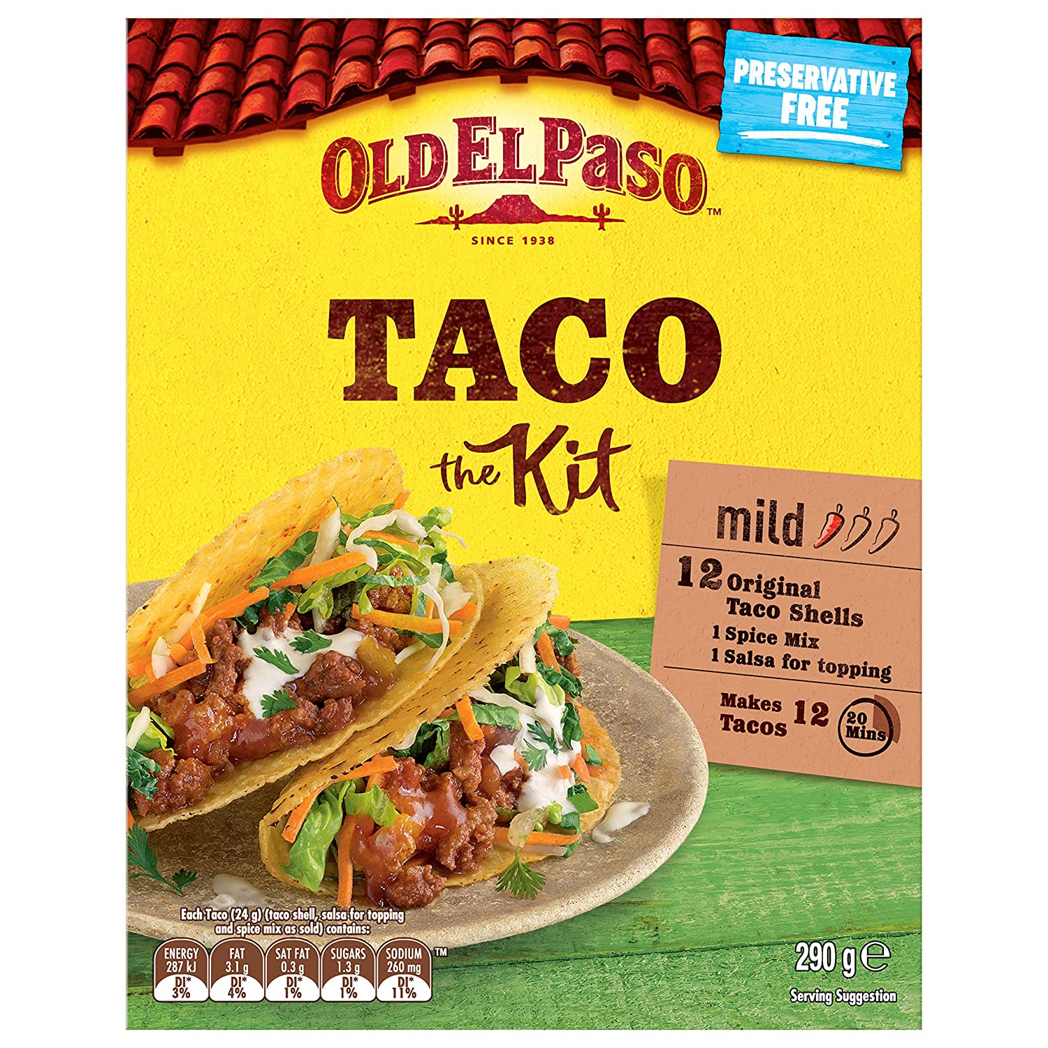 Old At the price of surprise Branded goods El Paso 290g kit taco