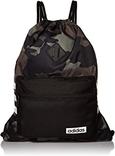 adidas Unisex Classic 3S Sackpack, Legacy Green Camo/Black, ONE SIZE