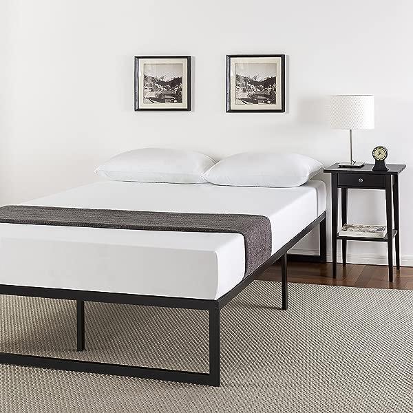 Zinus Abel 14 英寸金属平台床架带钢板条支撑床垫基础王
