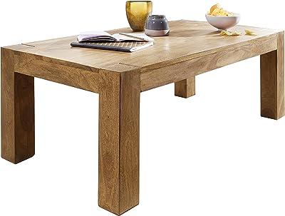 Wohnling Couchtisch BOHA Massiv-Holz Sheesham 118 cm breit