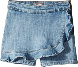 Lola Mid Wash Denim Ruffle Skort in Mimosa (Big Kids)
