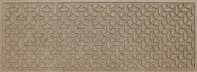 Bungalow Flooring Waterhog Indoor Outdoor Runner Rug, 22  x 60 , Skid Resistant, Easy to Clean, Catches Water and Debris, Ellipse Collection, Khaki Camel