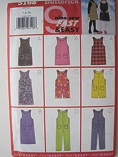 Butterick Pattern 5168 Girls' Jumper & Jumpsuit Sizes 7-8-10