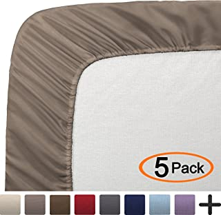 Bare Home 5 Full Fitted Premium Ultra-Soft Bed Sheets (5-Pack) - Hypoallergenic, Full, 15