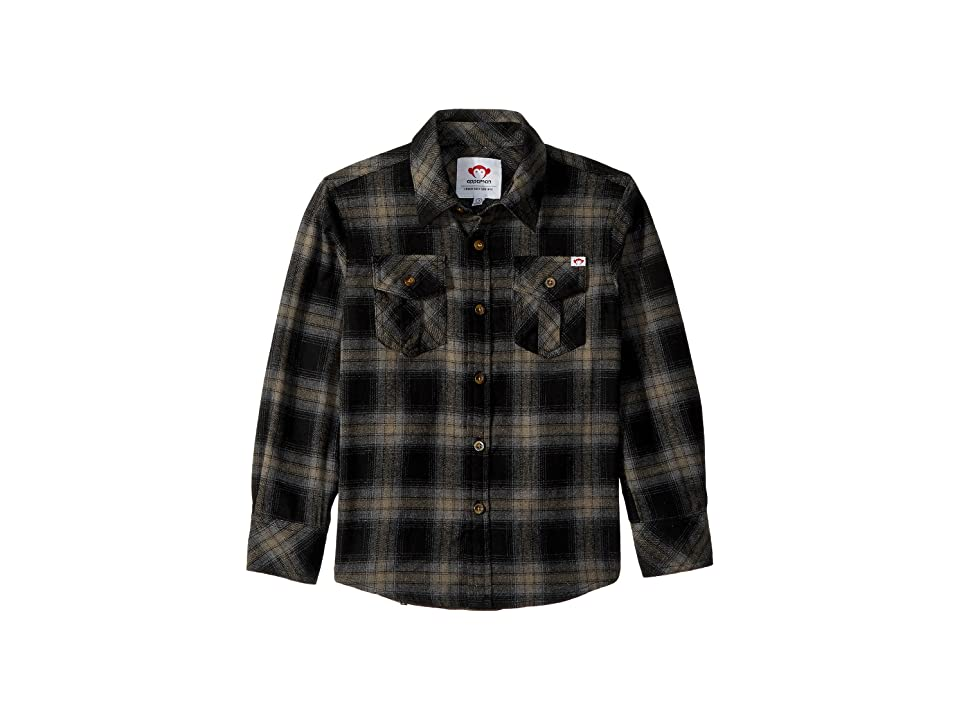 Appaman Kids Flannel Shirt with Elbow Patches (Toddler/Little Kids/Big Kids) (Vintage Black Plaid) Boy's Clothing, Multi