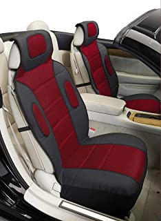 Eurow Sideless Sport Mesh Seat Cover (Red, 2-Pack)