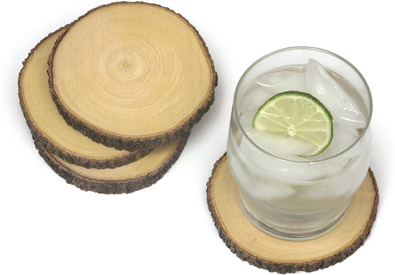 Lipper International Acacia Tree Bark Set 4 of 5 Choice popular Coasters