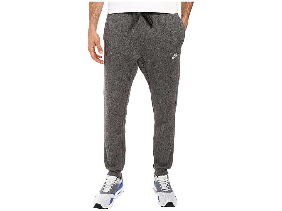 Nike Sportswear Fleece Jogger (Charcoal Heather/White) Men