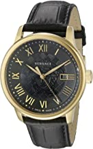 Versace Men's VQS020015 Business Gold Ion-Plated Stainless Steel Watch