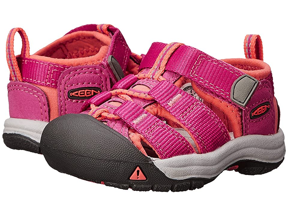 Keen Kids Newport H2 (Toddler) (Verry Berry/Fusion Coral) Girls Shoes