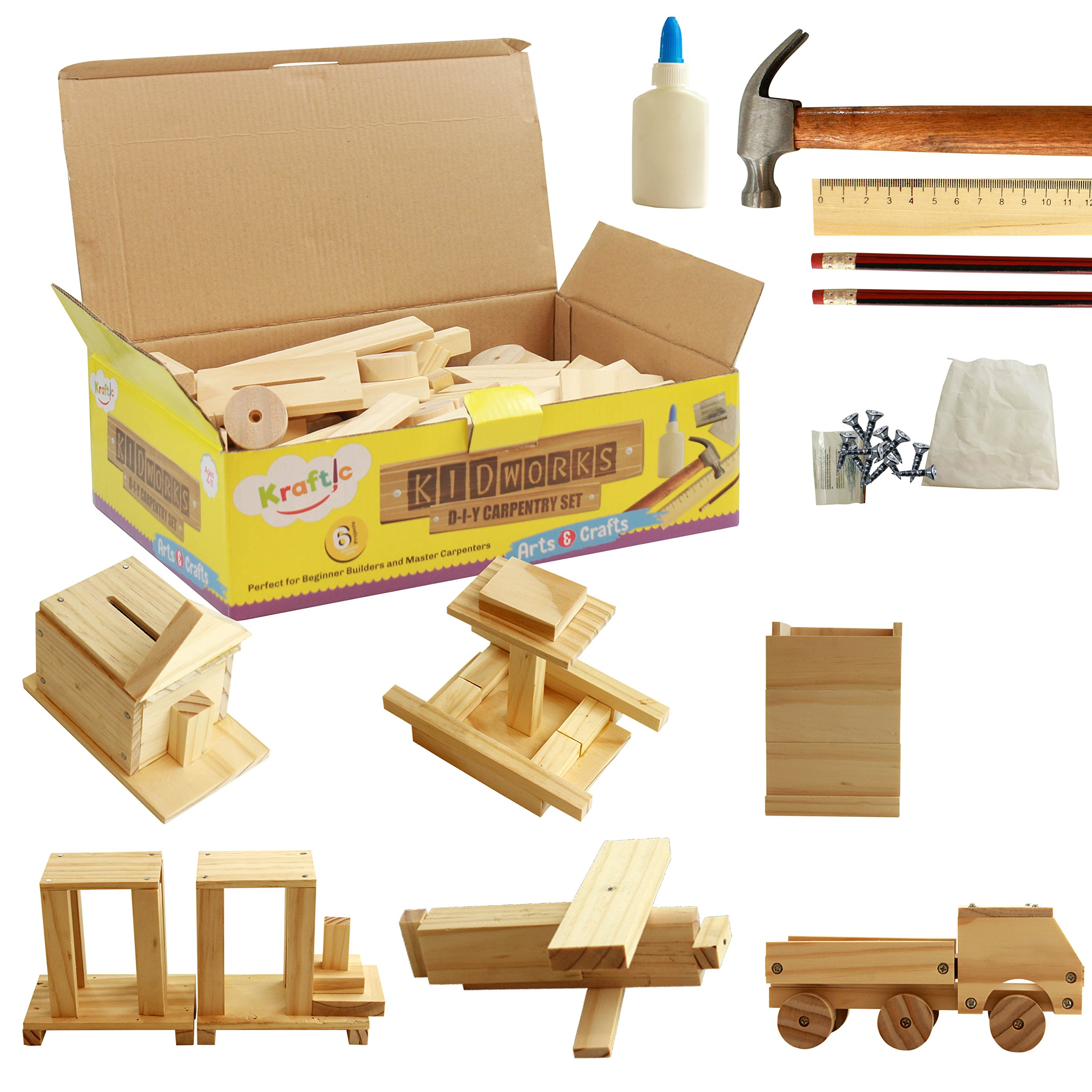 Kraftic Deluxe Carpentry Woodworking Projects
