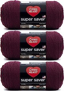 Bulk Buy: Red Heart Super Saver Yarn (3-Pack) Claret E300-378