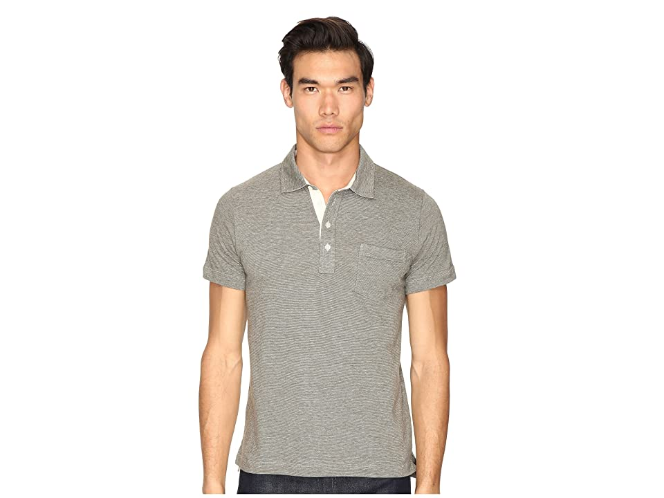 Image of Billy Reid End-On-End Pensacola Polo (Olive) Men's Clothing