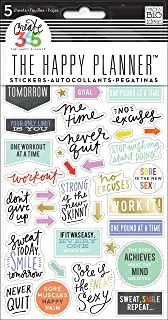 me & my BIG ideas The Happy Planner Themed Stickers - Fitness Theme - Multi-Color - Perfect for Scrapbooking & Paper Crafts - 5 Sheets