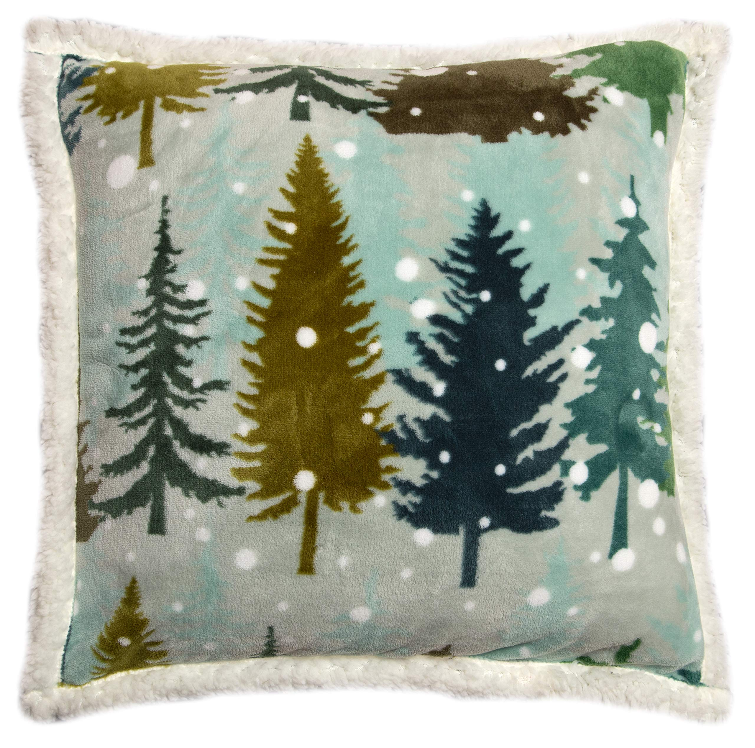 Amazon Com Carstens Inc Snowflake Forest Throw Pillow Brown Home Kitchen