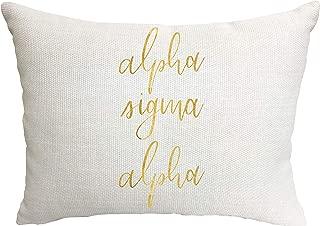 Alpha Sigma Alpha Sorority Throw Pillow