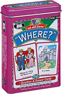 "Ask and Answer ""Where?"" Questions Flash Card Deck - Super Duper Publications Educational Learning Resource for Children"