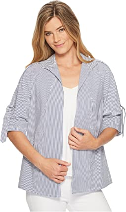 Stretch Regatta Stripe Jacket with D Ring Detail