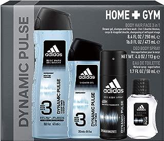 Adidas Fragrance Home & Gym Dynamic Pulse 4-Piece Gift Set With Eau De Toilette, Body Wash X2, And Deoderant Body Spray, 3 Pound