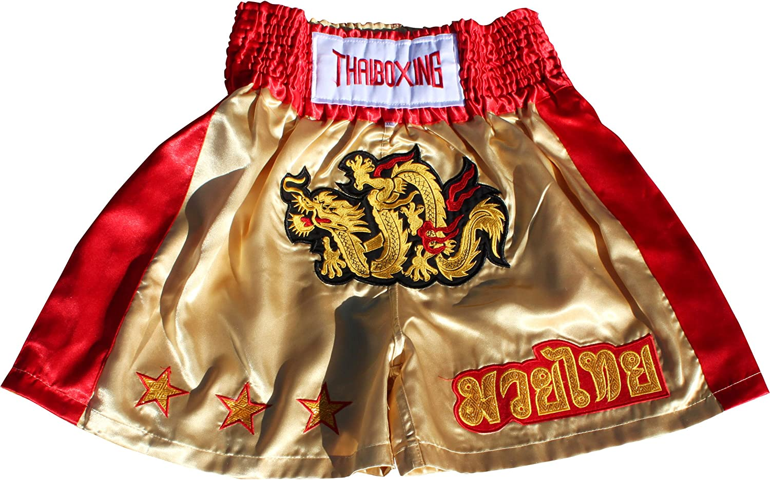 Limited time sale Full Funk Simple Satin Muaythai Muay Dragon Super beauty product restock quality top Shorts Fighting Thai