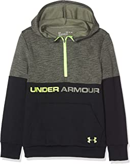 a2a6152a83326 Under Armour Children's Unstoppable Double Knit 1/2 Zip Hoody Warm-up Top