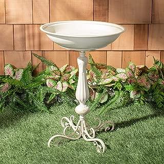 Safavieh PAT5023A Outdoor Collection Orian Pearl White 27-inch Bird Bath