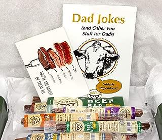 Dad Gift Box Turkey Sticks Beef Sticks Pork Sticks Gluten MSG Nitrate & Nitrite Free Paleo Keto Snacks Healthy Natural Meat Sticks Father's Day Anniversary Birthday
