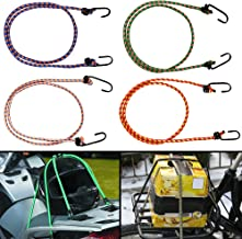 Autofy Multipurpose Ultra Flexible Bungee Rope/Luggage Strap/Bungee Cord with 10 MM Diameter and Metal Hooks (Multicolored...