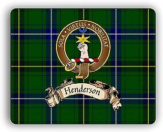 Henderson Scottish Clan Tartan Crest Computer Mouse Pad