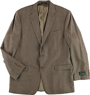 Mens Silk & Wool Two Button Blazer Jacket