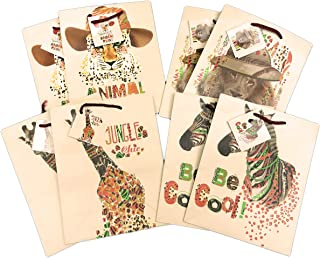 Safari Animals Lion Cheetah Zebra & Giraffe 8 Pack Celebration Party Favor Gift Bags 8