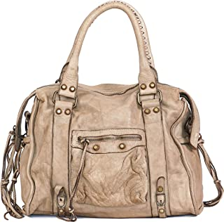Women Top Handle Leather Bag - Handmade Vintage Shoulder Bag Genuine Leather Purse