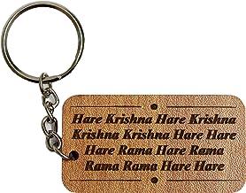 Hare Krishna Hare Rama Mahamantra Key Ring (Brown)- VRINDAVANBAZAAR.COM