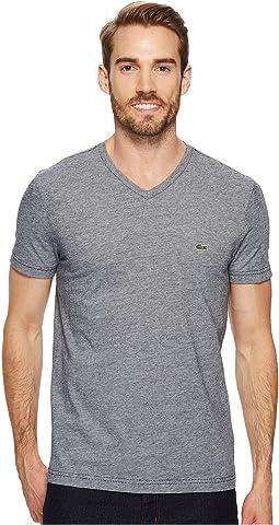Lacoste - V-Neck Stripe T-Shirt