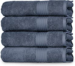 Peshkul Turkish Bathroom Towels, Best Bath Towels Used by Spa& Luxury Hotel | 100% Cotton 27x54 |Set of 4 Soft Bath Towels...