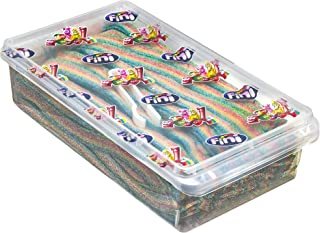Fantasy Rainbow Sour Belts 3.5 Pound Box - 200 Pieces