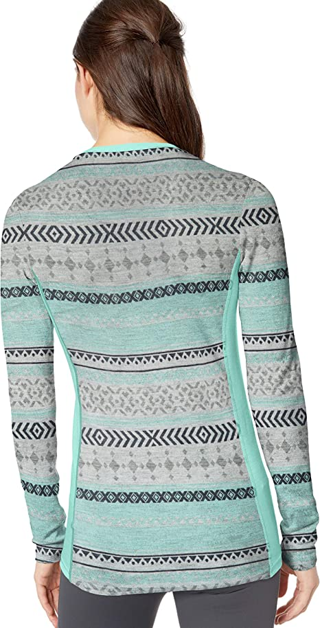 Helly-Hansen Womens W Hh Merino Mid Graphic Ls Hh Merino Wool Mid Graphic Print Long-sleeve Thermal Baselayer Top