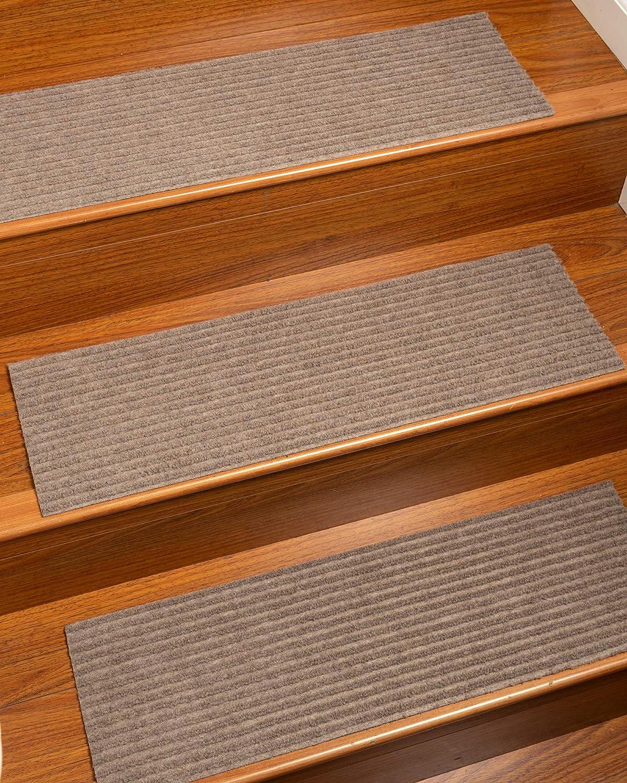 Natural Area Rugs Halton, Polyester Beige, Handmade Stair Treads Carpet Set of 13 (9 x29 )