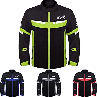 HWK Mesh Motorcycle Jacket Riding Air Motorbike Jacket...