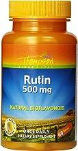 Thompson Rutin 500mg | Bioflavonoid and Antioxidant | Healthy Vascular System Support | Non-GMO & Vegan | Lab Verified | 6...